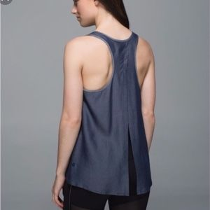 lululemon athletica Tops - Lululemon  |  All Tied Up Chambray Tank, Sz 8